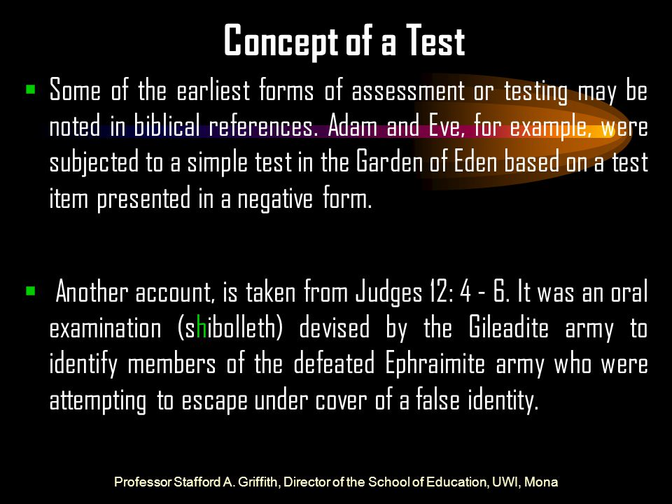 Concept of a Test