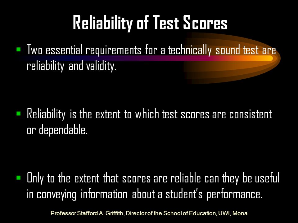 Reliability of Test Scores