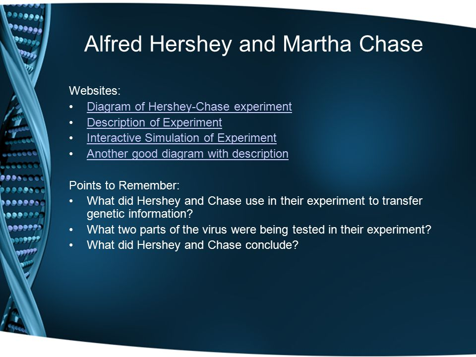 Alfred Hershey and Martha Chase