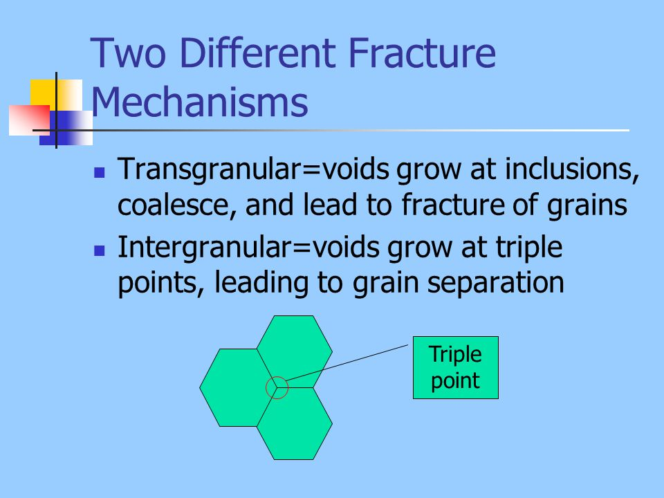 Two Different Fracture Mechanisms