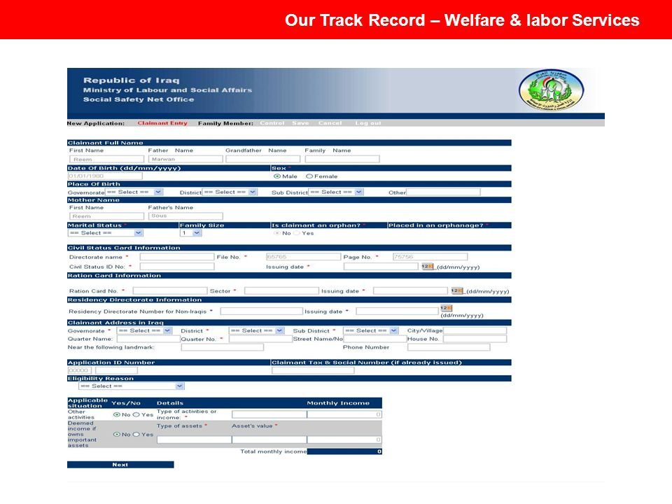 Our Track Record – Welfare & labor Services