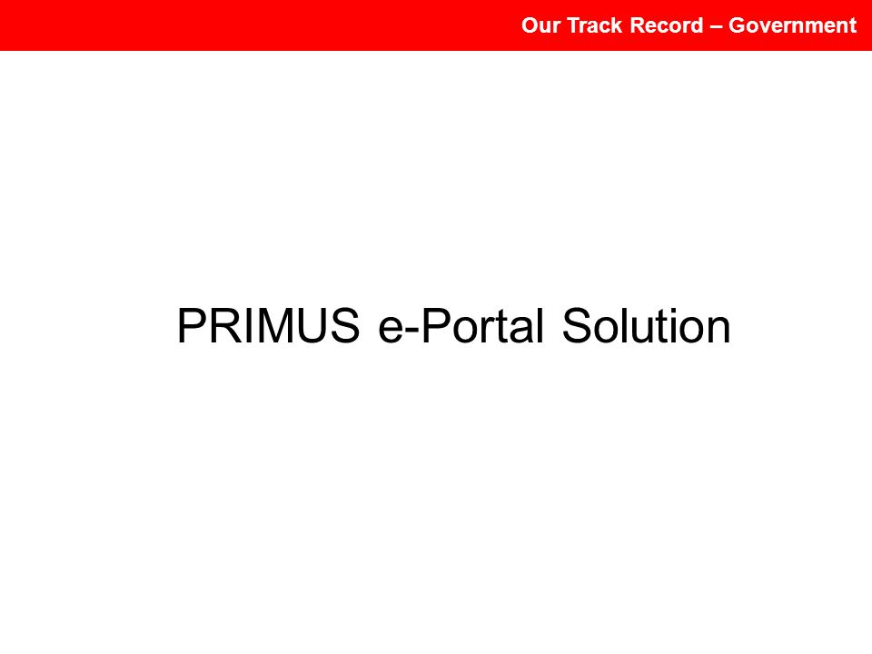 PRIMUS e-Portal Solution