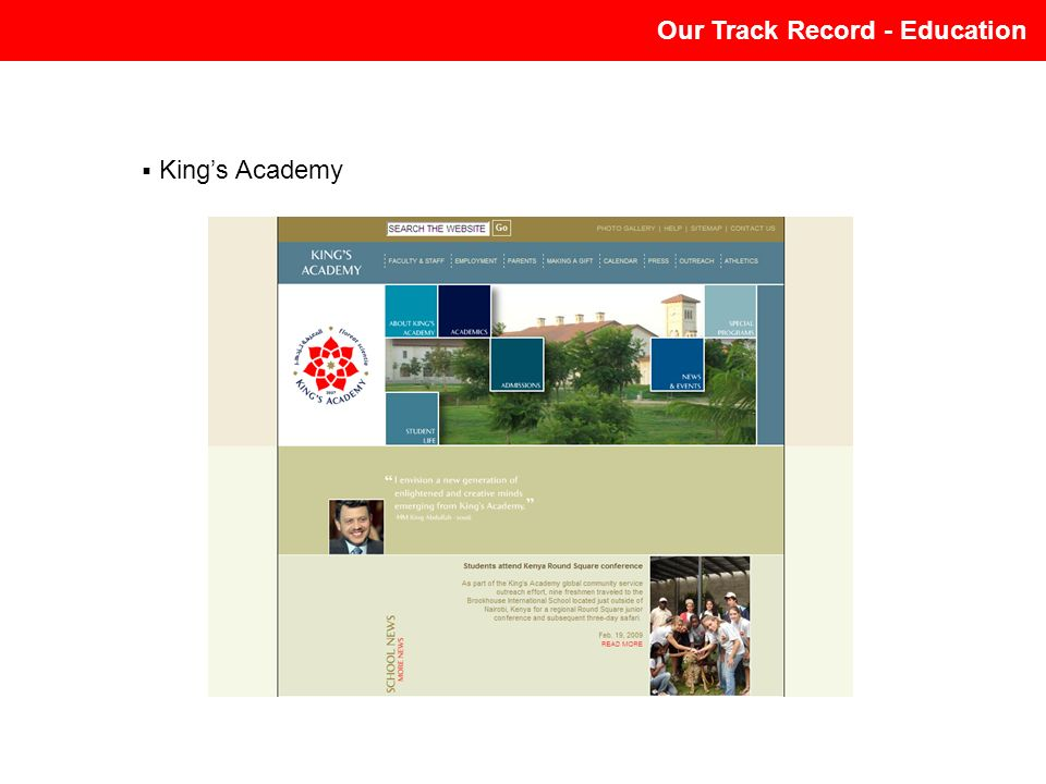 Our Track Record - Education