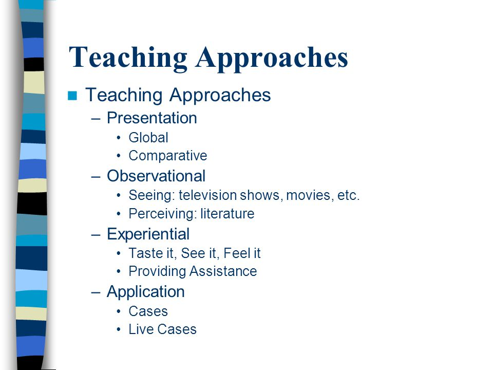 Teaching Approaches Teaching Approaches Presentation Observational