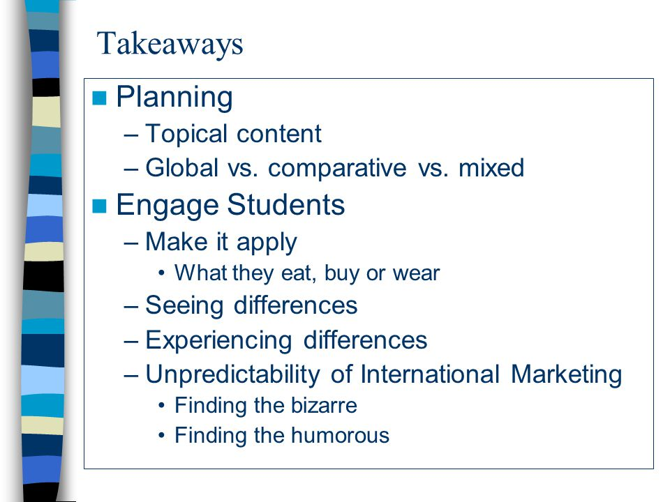 Takeaways Planning Engage Students Topical content