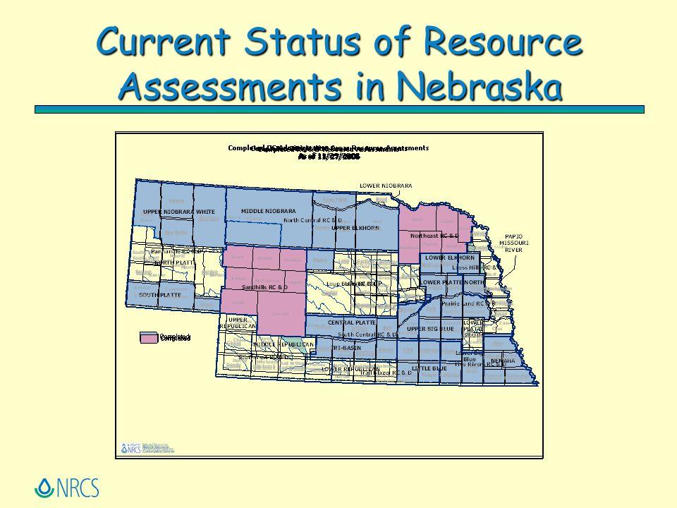 Current Status of Resource Assessments in Nebraska