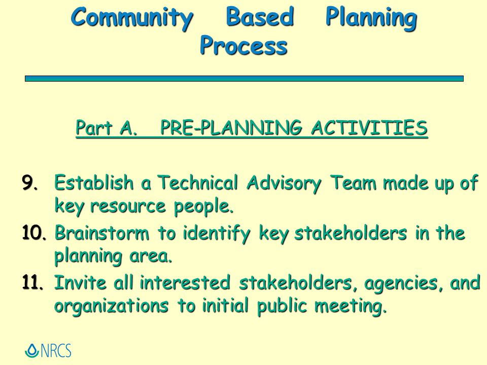 Community Based Planning Process