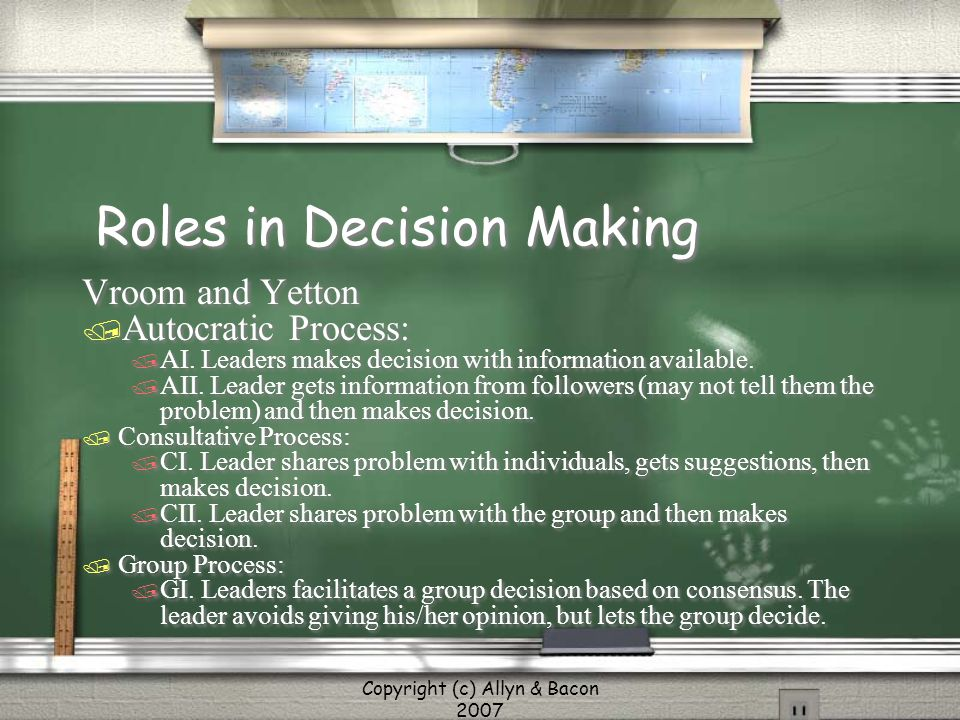 Roles in Decision Making