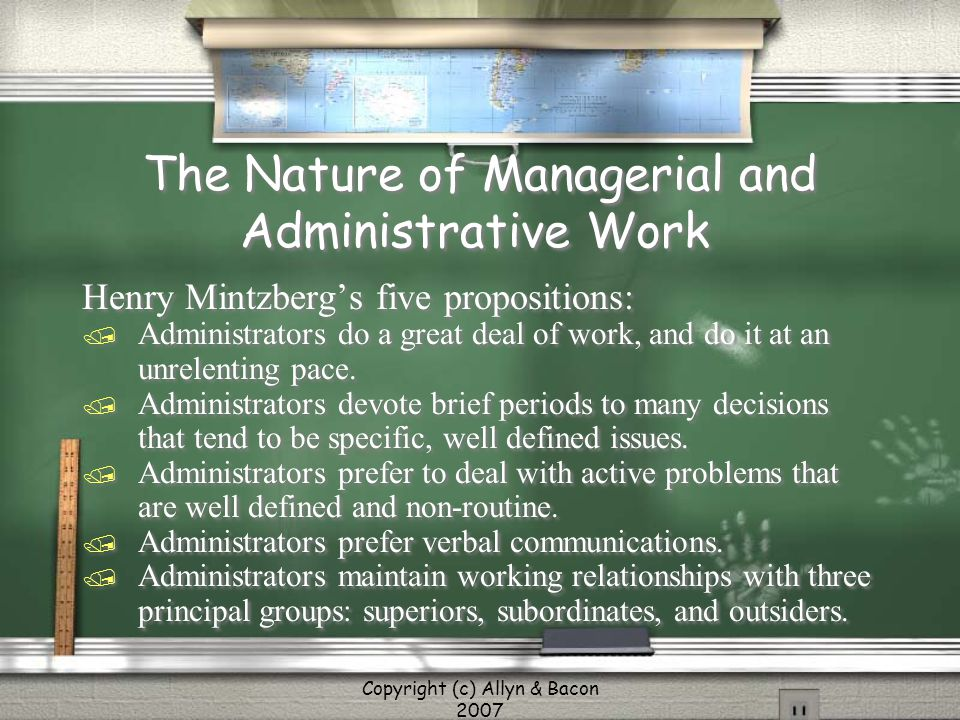 The Nature of Managerial and Administrative Work
