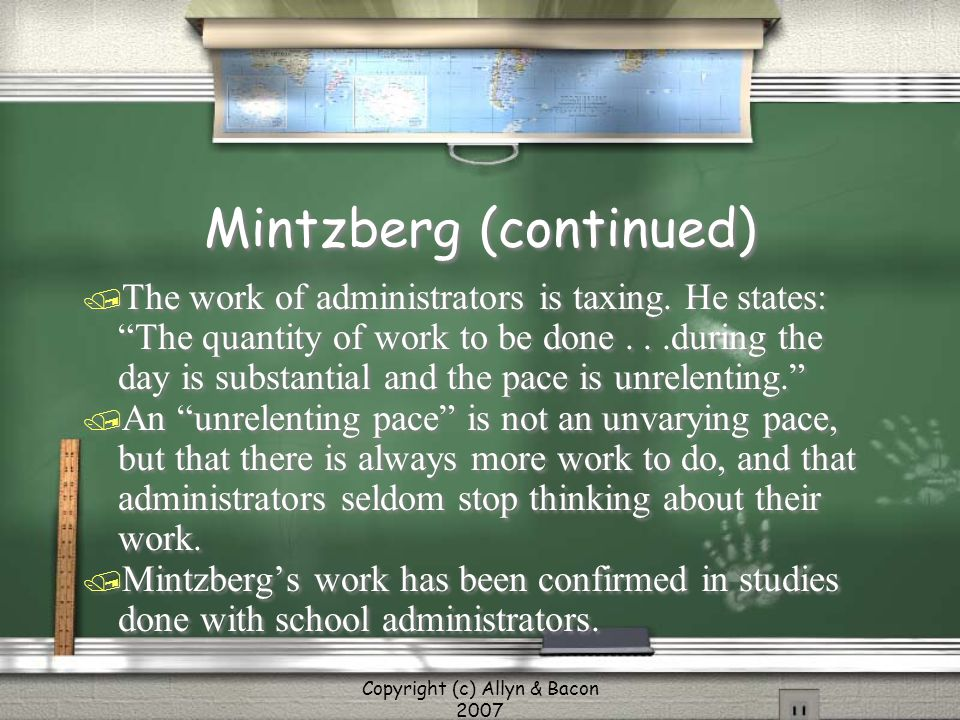 Mintzberg (continued)