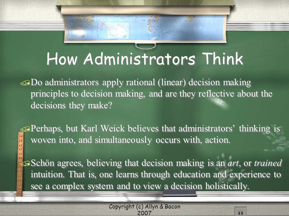 How Administrators Think
