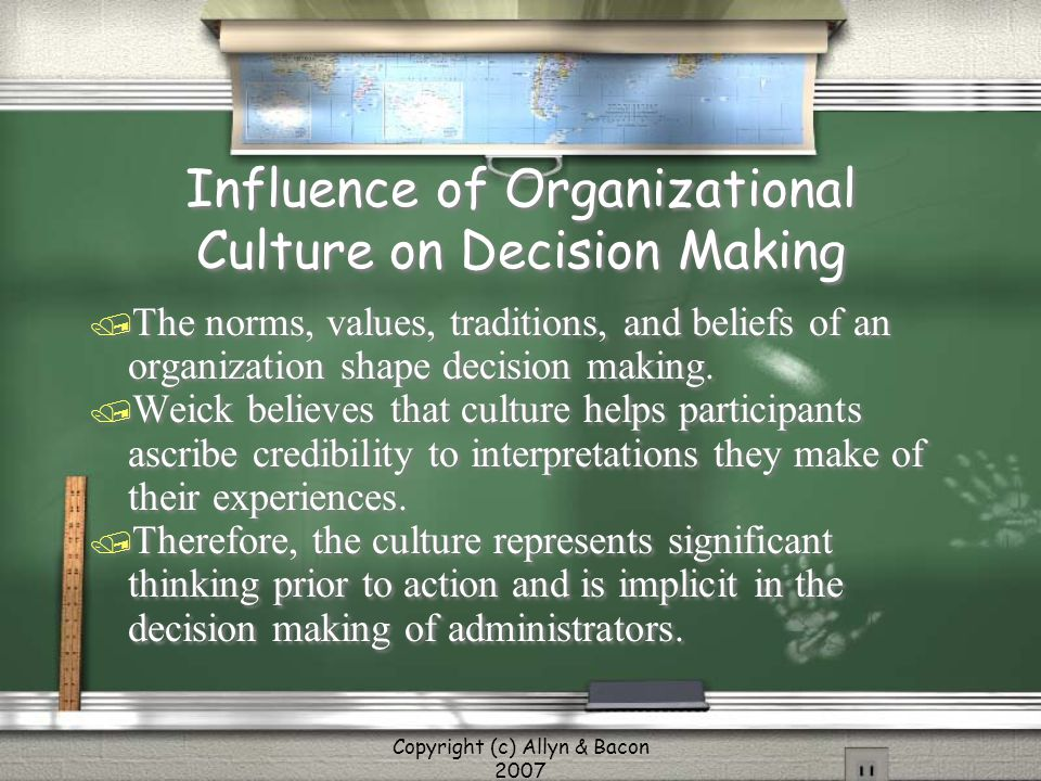 Influence of Organizational Culture on Decision Making