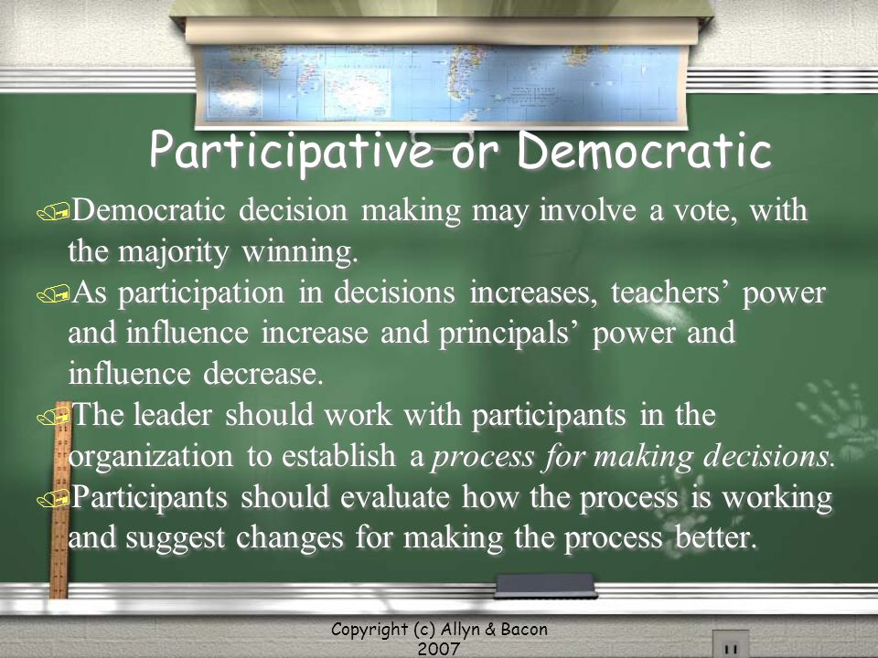 Participative or Democratic