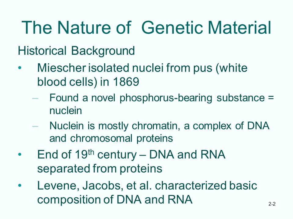 The Nature of Genetic Material