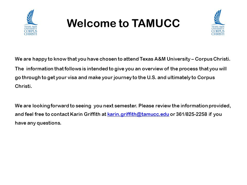Welcome to TAMUCC