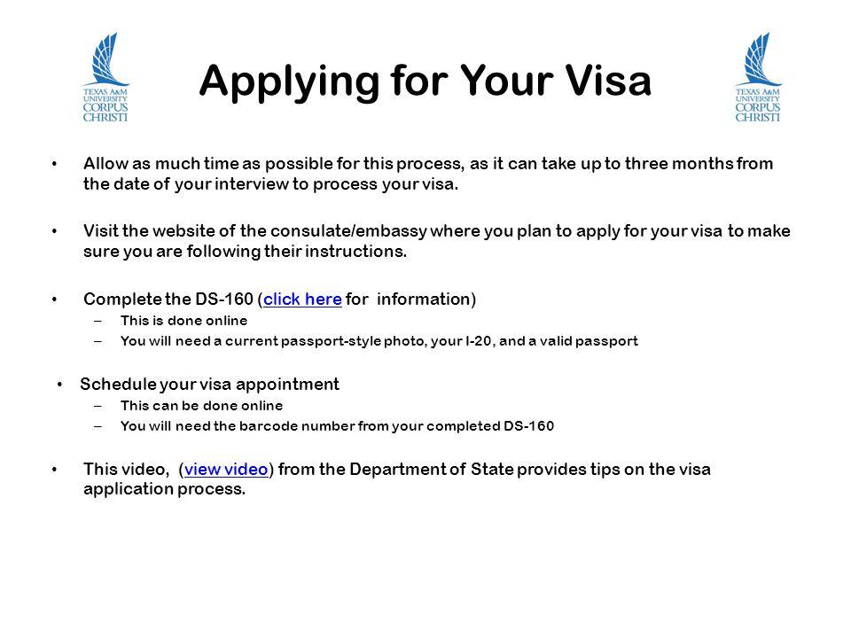 Applying for Your Visa
