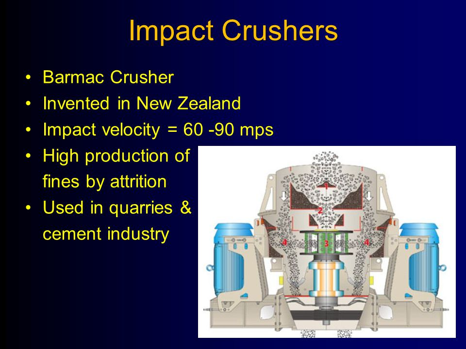 Impact Crushers Barmac Crusher Invented in New Zealand