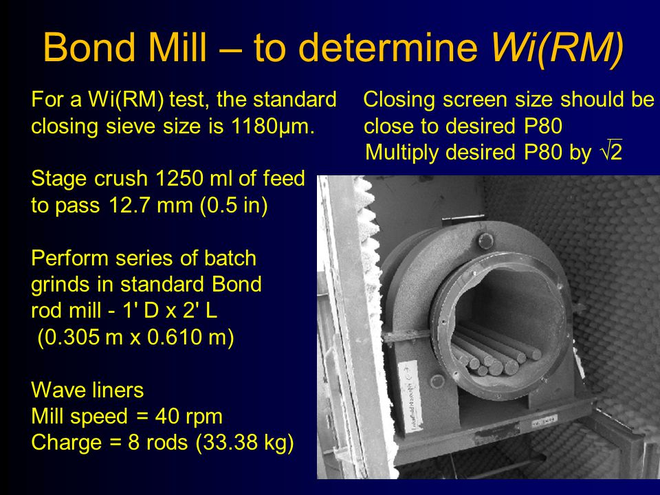 Bond Mill – to determine Wi(RM)