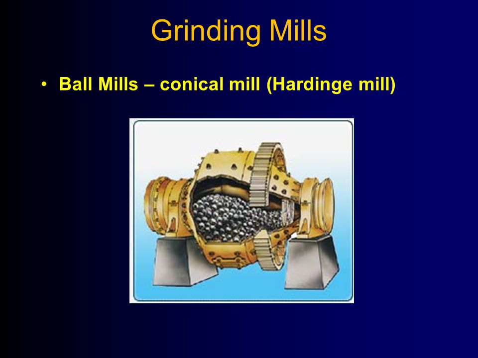 Grinding Mills Ball Mills – conical mill (Hardinge mill)