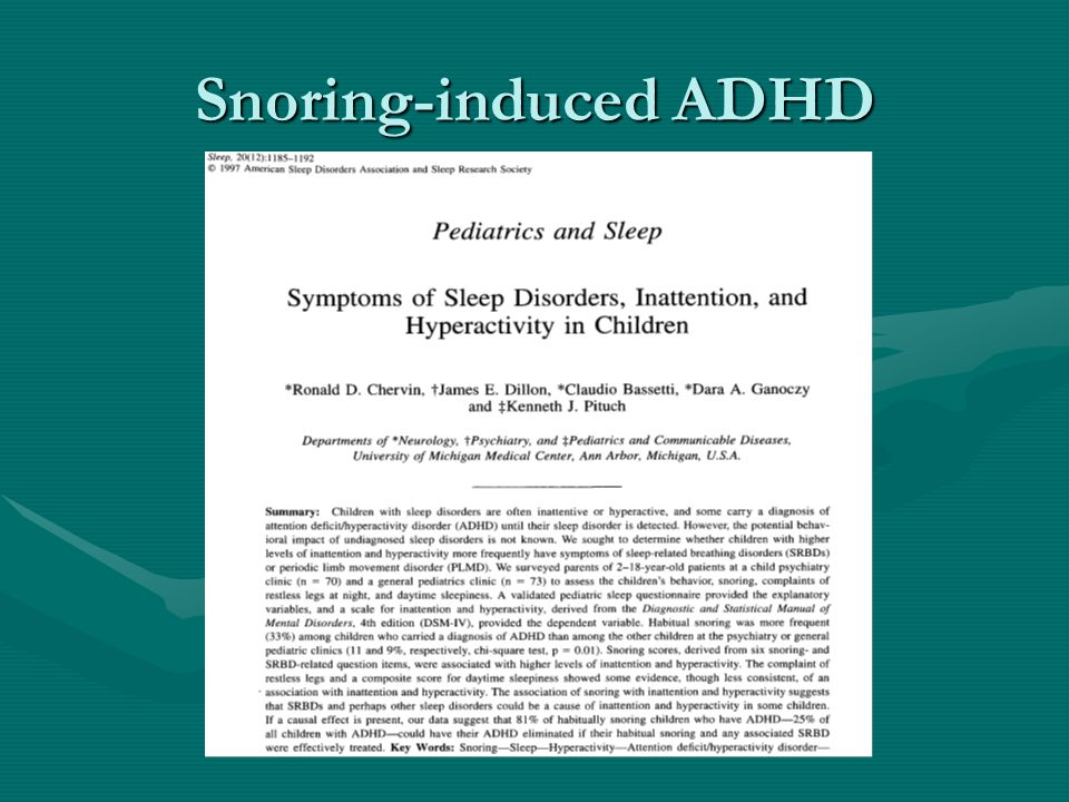 Snoring-induced ADHD