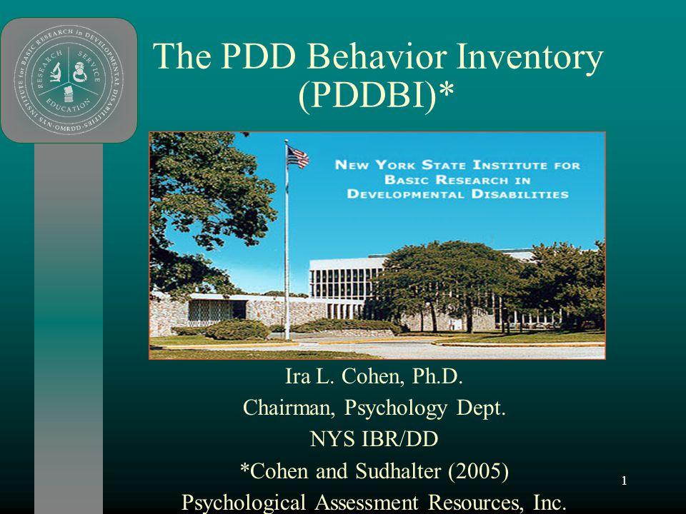 The PDD Behavior Inventory (PDDBI)*