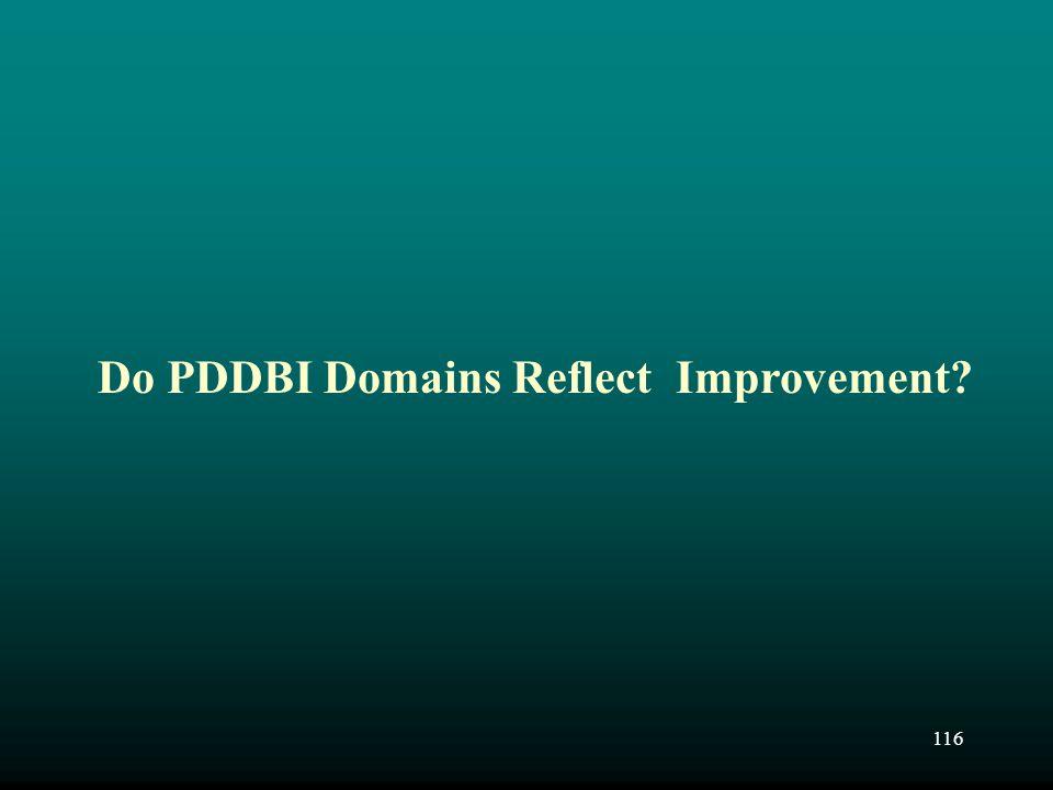 Do PDDBI Domains Reflect Improvement