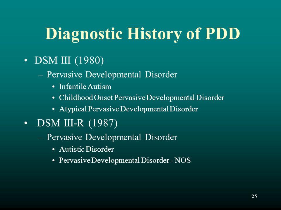 Diagnostic History of PDD