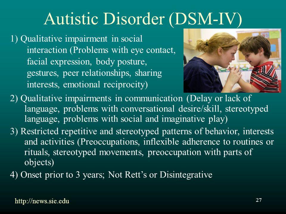 Autistic Disorder (DSM-IV)