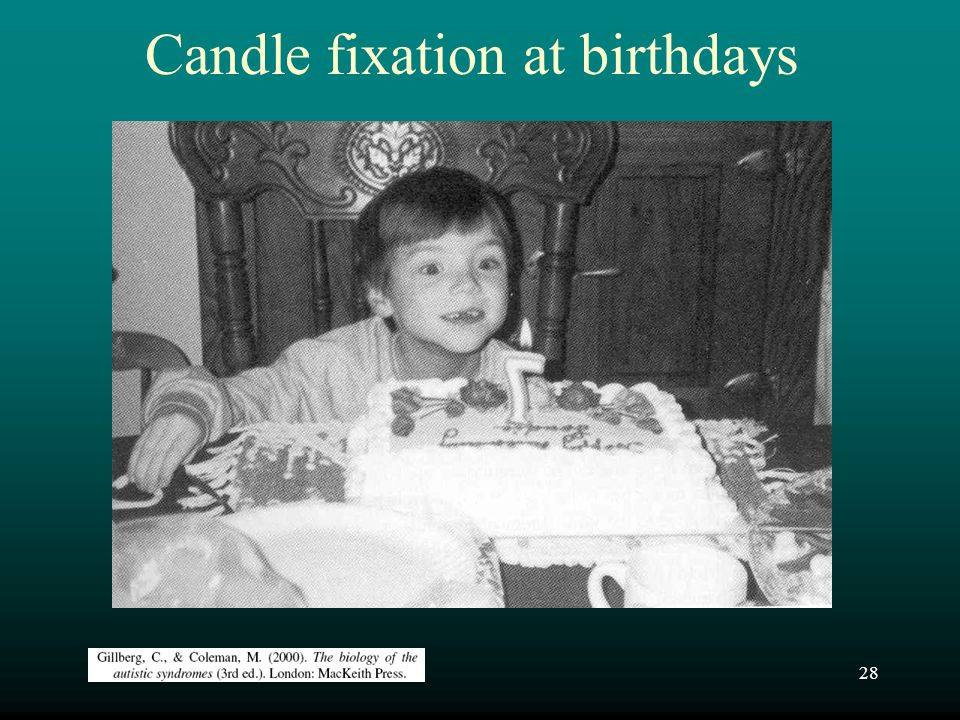 Candle fixation at birthdays