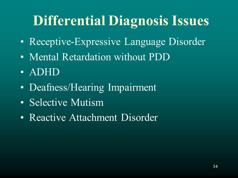 Differential Diagnosis Issues