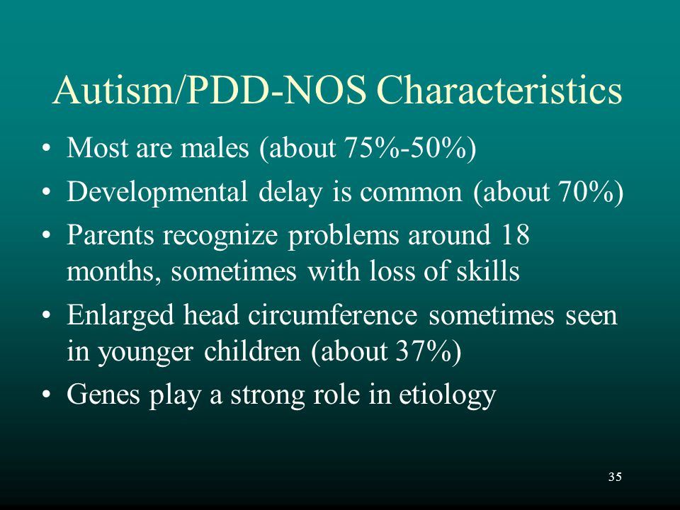 Autism/PDD-NOS Characteristics
