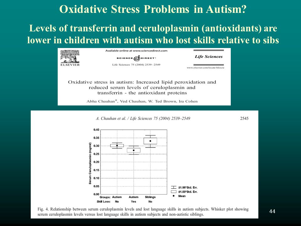 Oxidative Stress Problems in Autism