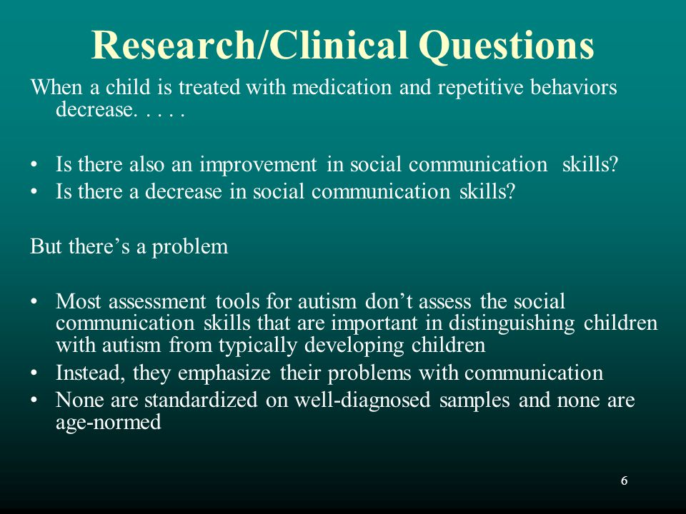 Research/Clinical Questions