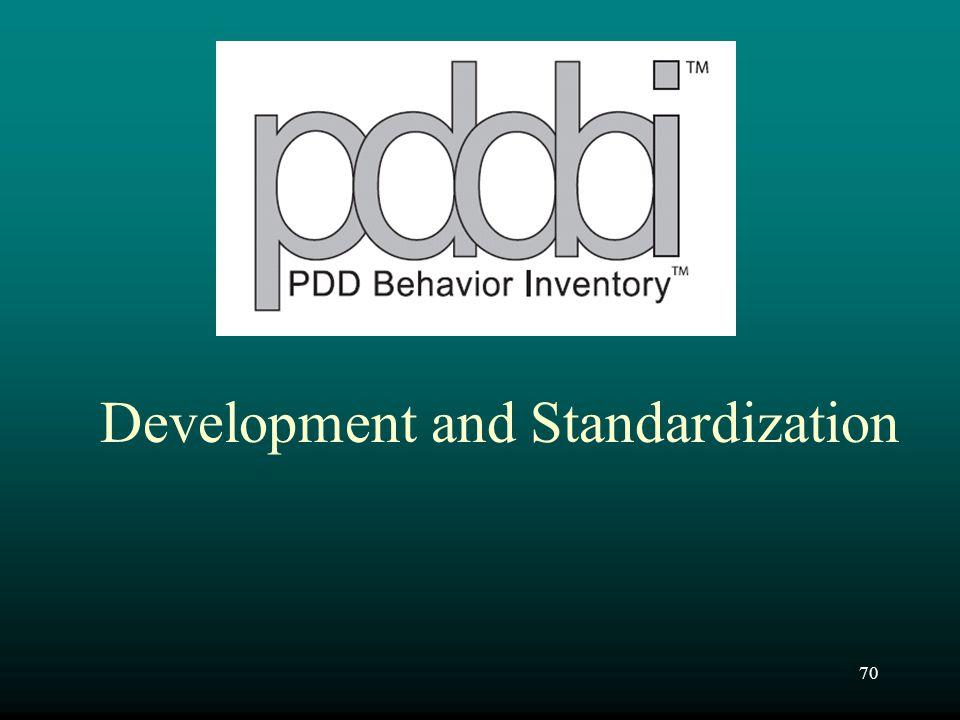 Development and Standardization