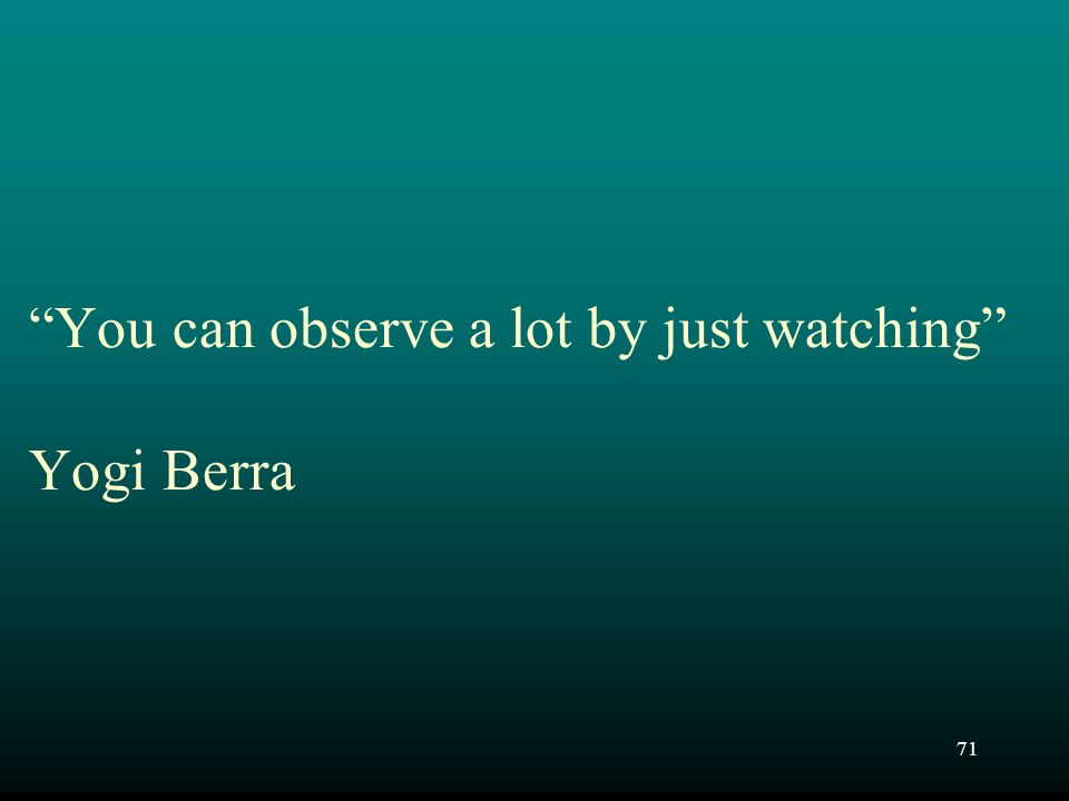 You can observe a lot by just watching Yogi Berra