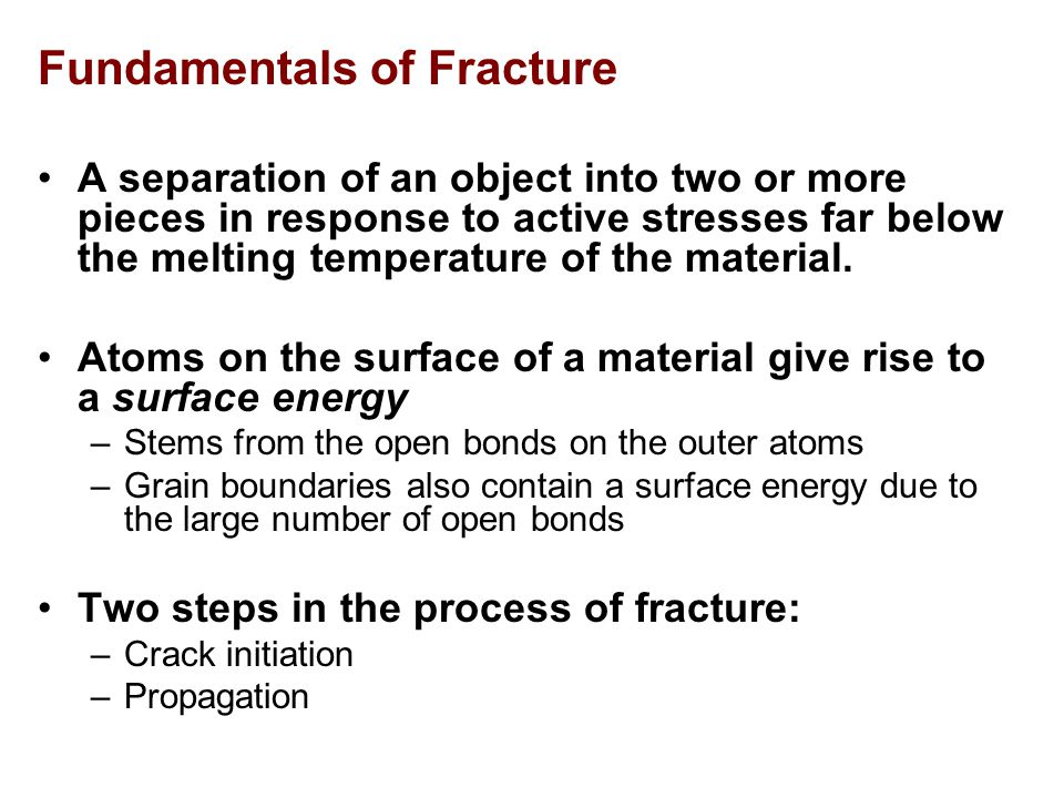 Fundamentals of Fracture