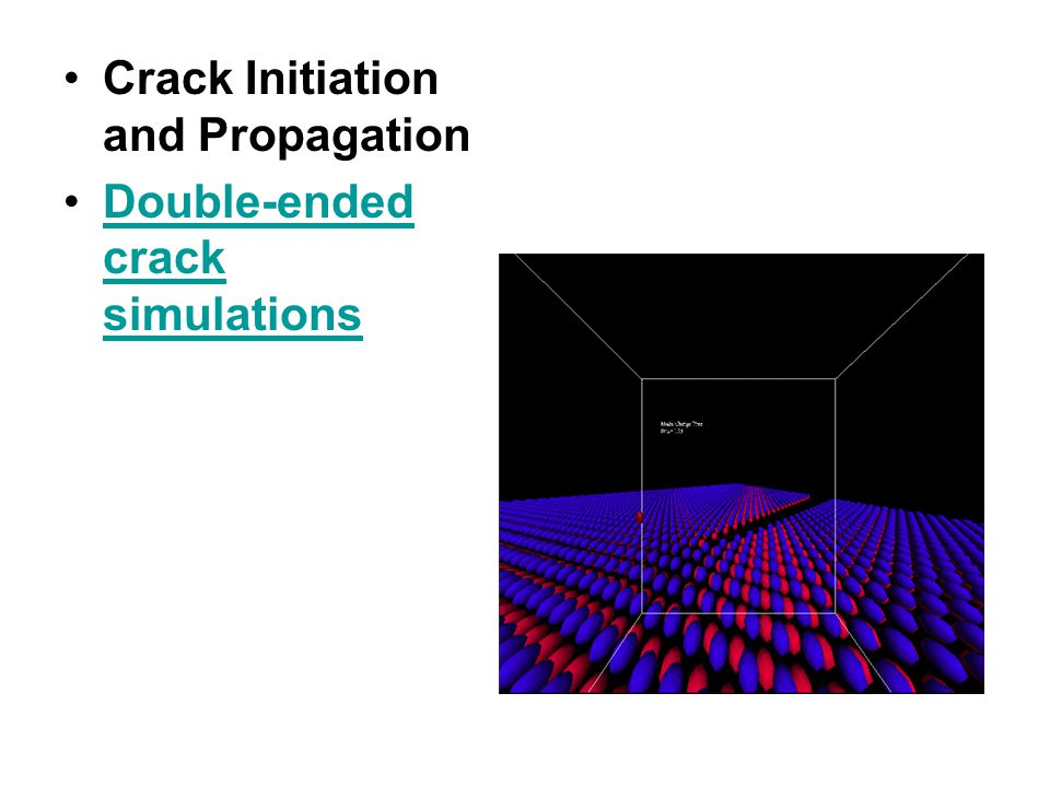 Crack Initiation and Propagation