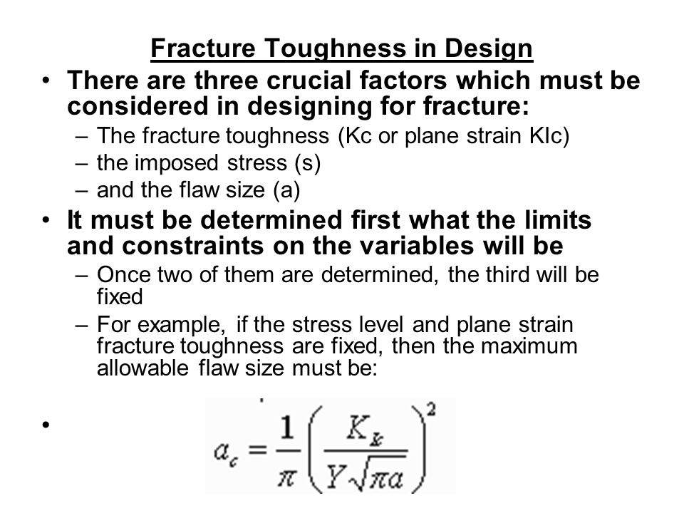 Fracture Toughness in Design