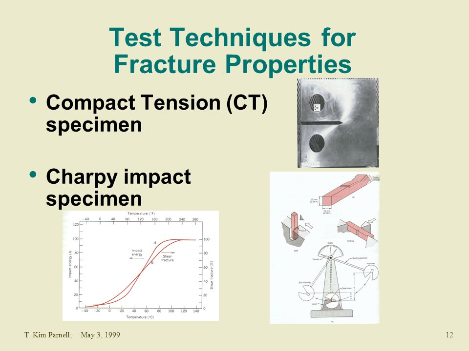 Test Techniques for Fracture Properties