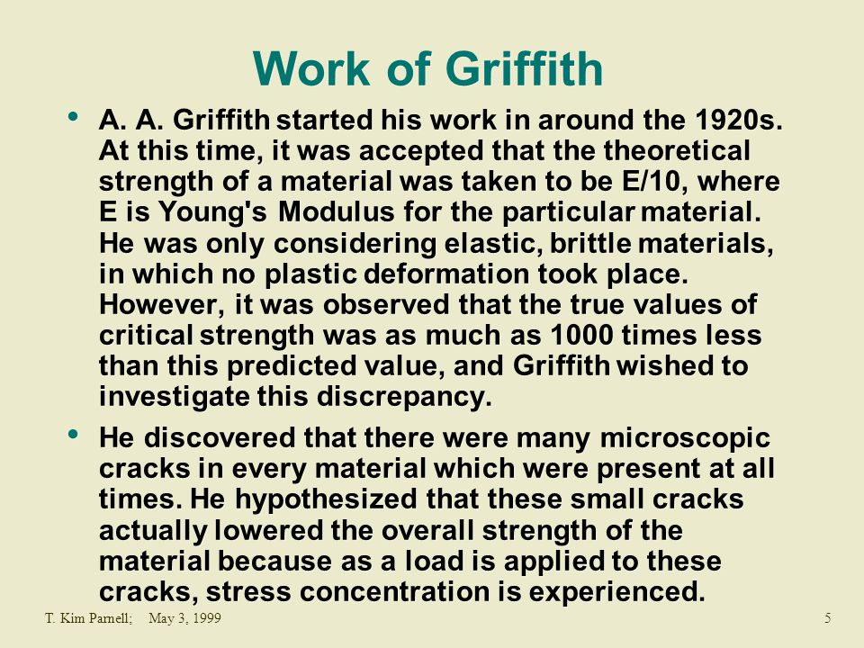 Work of Griffith