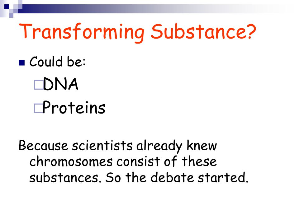 Transforming Substance