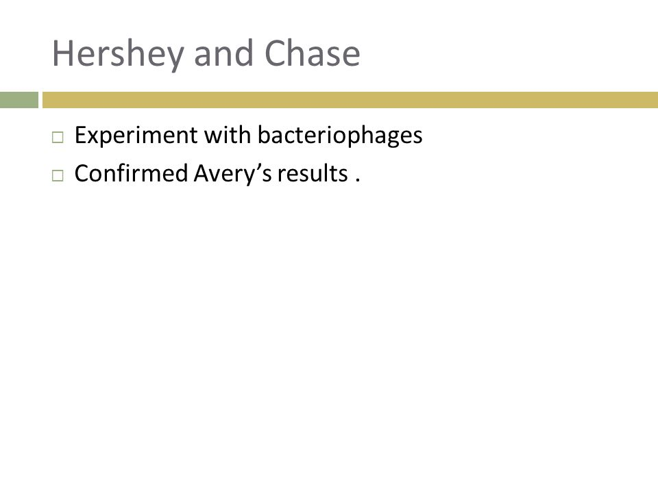 Hershey and Chase Experiment with bacteriophages