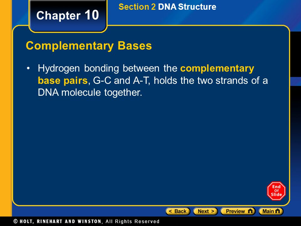Chapter 10 Complementary Bases