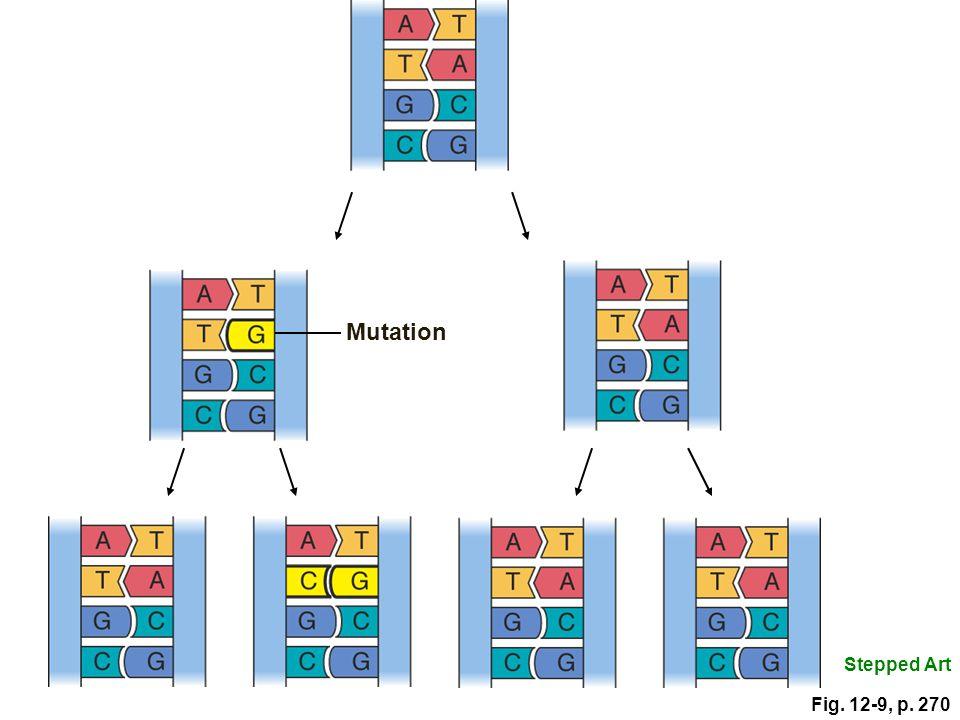 Mutation Stepped Art Fig. 12-9, p. 270