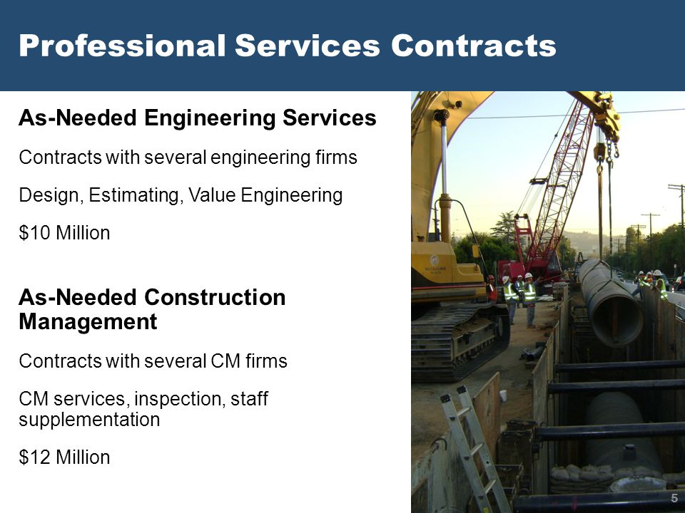 Professional Services Contracts