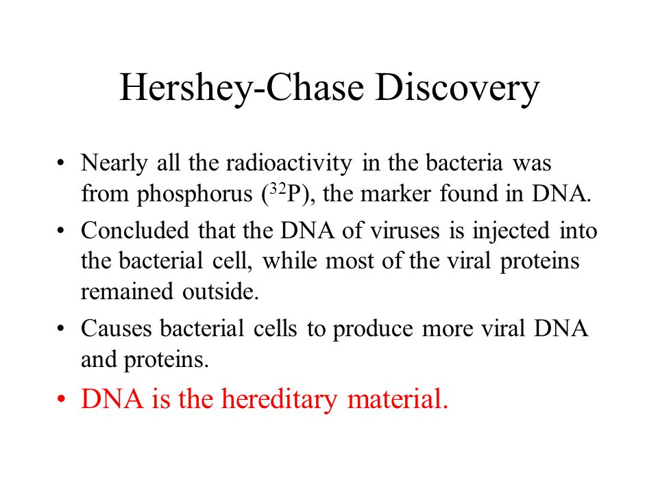 Hershey-Chase Discovery