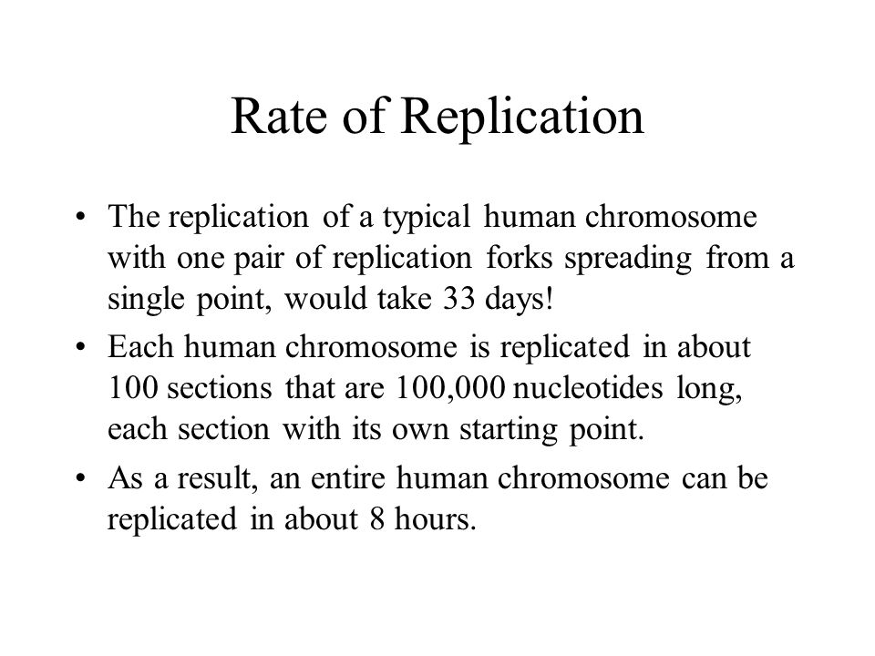 Rate of Replication