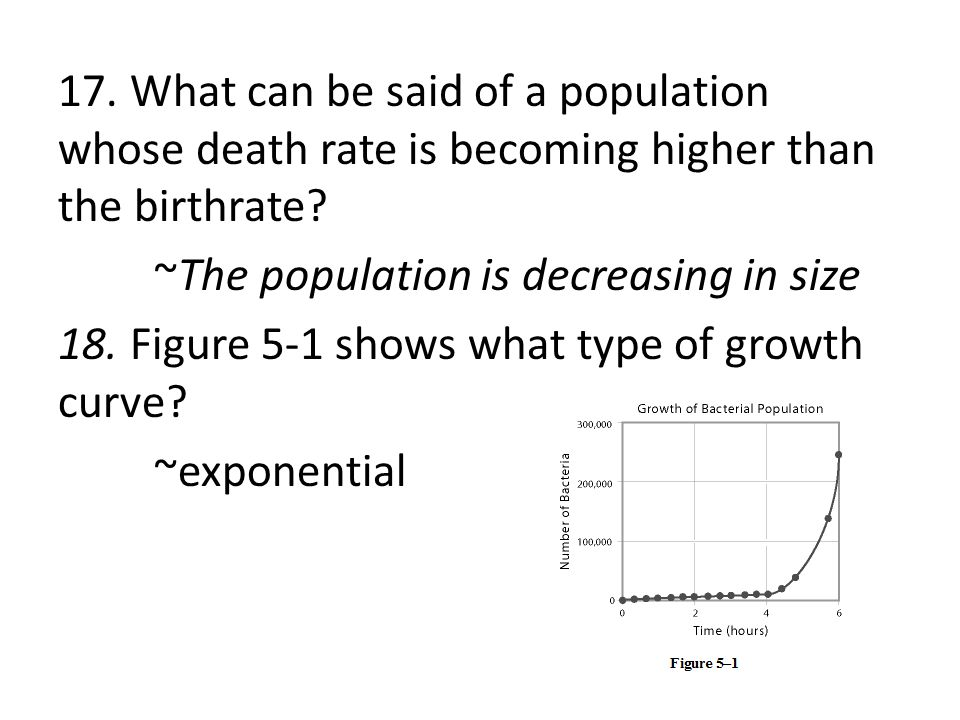 17. What can be said of a population whose death rate is becoming higher than the birthrate.