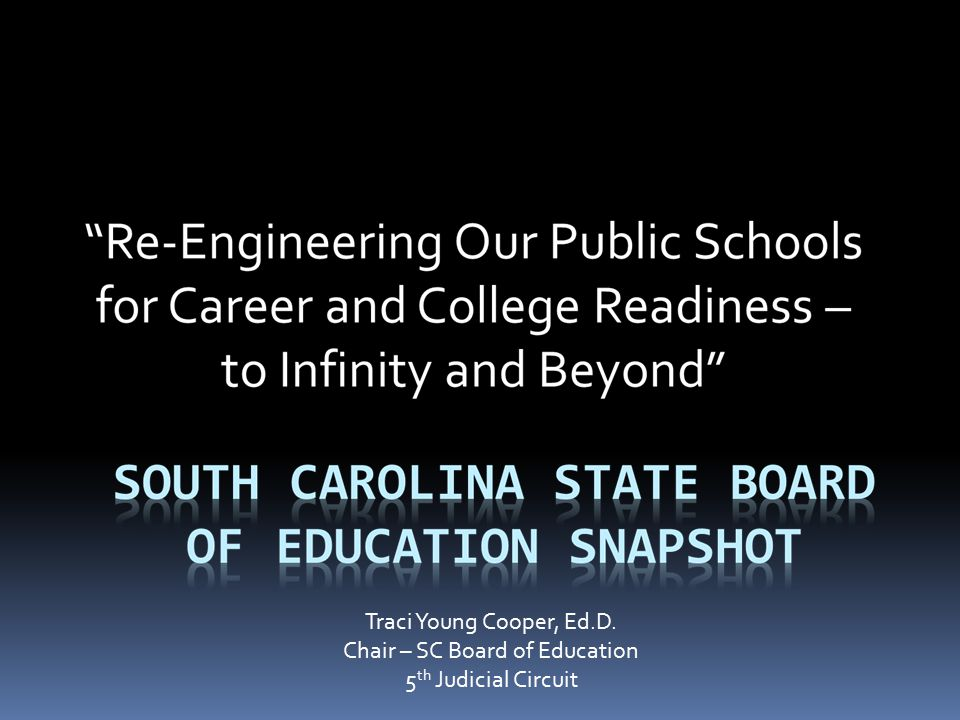 Chair – SC Board of Education