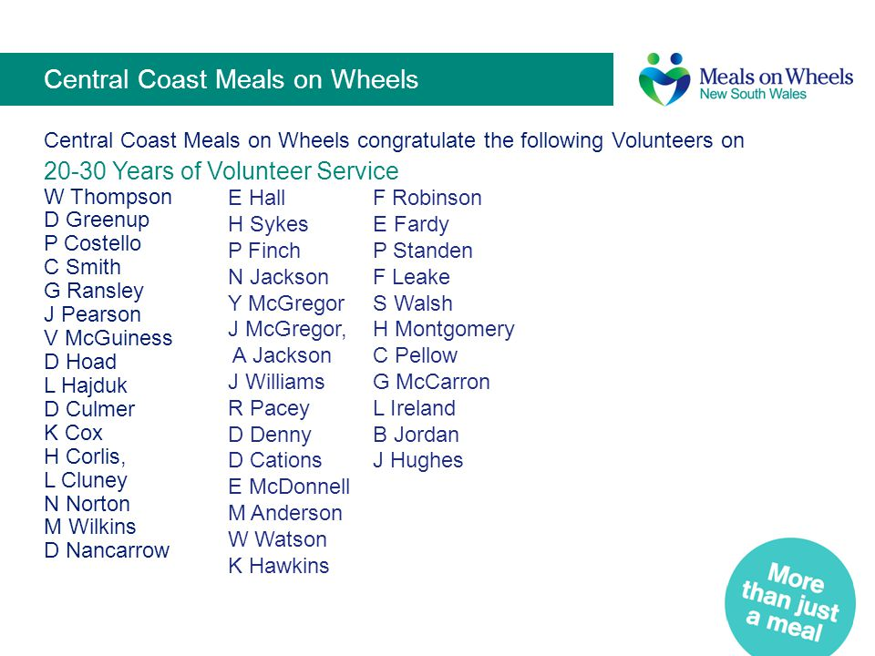 Central Coast Meals on Wheels